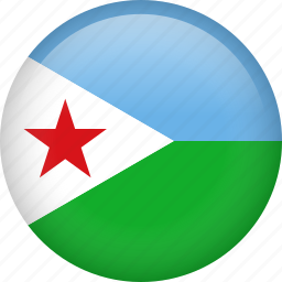 circle, country, djibouti, flag, nation, national icon