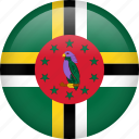 circle, country, dominica, flag, nation, national icon