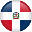circle, country, dominican republic, flag, nation, national icon