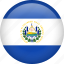 circle, country, el salvador, flag, nation, national icon