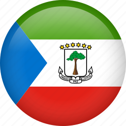circle, country, equatorial guinea, flag, nation, national icon