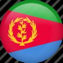 circle, country, eritrea, flag, nation, national icon