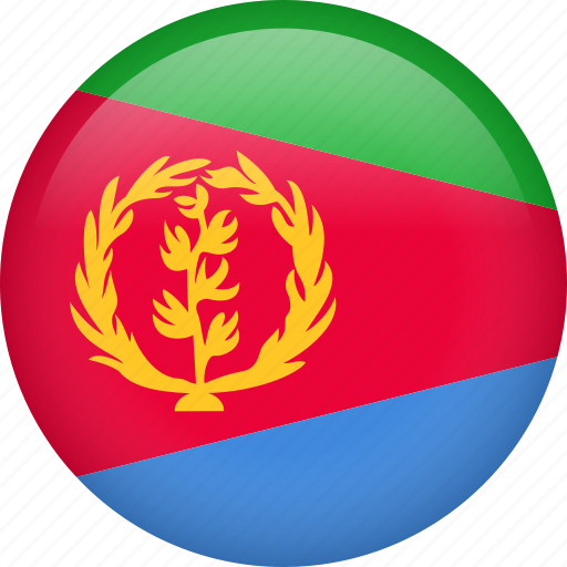 circle, country, eritrea, flag, nation, national icon