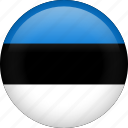 circle, country, estonia, flag, nation, national icon