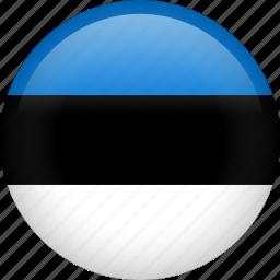 circle, country, estonia, flag, nation, national icon