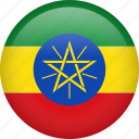 circle, country, ethiopia, flag, nation, national icon