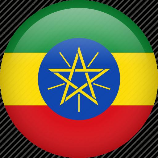 circle, country, ethiopia, flag, nation, national icon