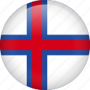 circle, country, faroe, flag, nation, national icon