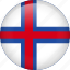 circle, country, faroe, flag, nation, national icon