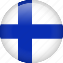 finland, circle, country, flag, national, nation