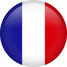 circle, country, flag, france, nation icon