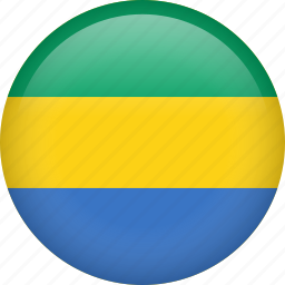 circle, country, flag, gabon, nation icon