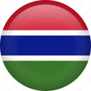 circle, country, flag, gambia, nation icon
