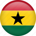 ghana, circle, country, flag, nation