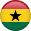 circle, country, flag, ghana, nation icon