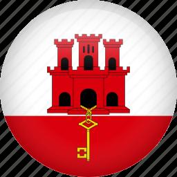 circle, country, flag, gibraltar, nation icon