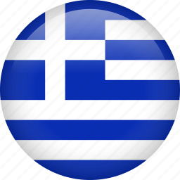 circle, country, flag, greece, nation icon