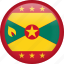 circle, country, flag, grenada, nation icon