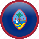 circle, country, flag, guam, nation, national icon
