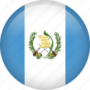 circle, country, flag, guatemala, nation, national icon