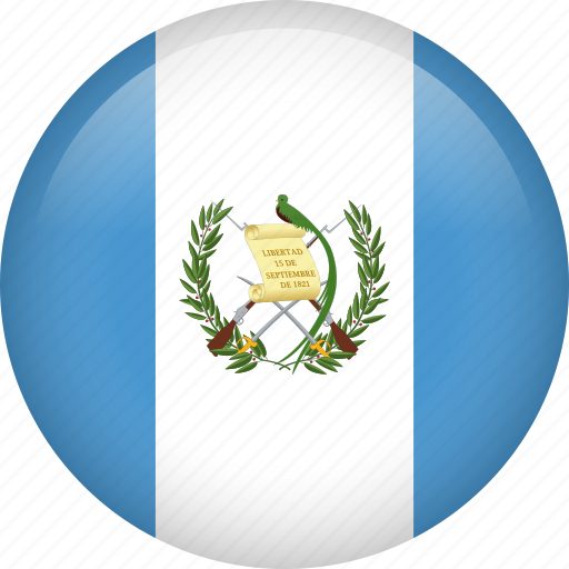 circle, country, flag, guatemala, nation, national icon
