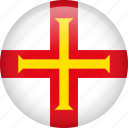 guernsey, circle, country, flag, nation