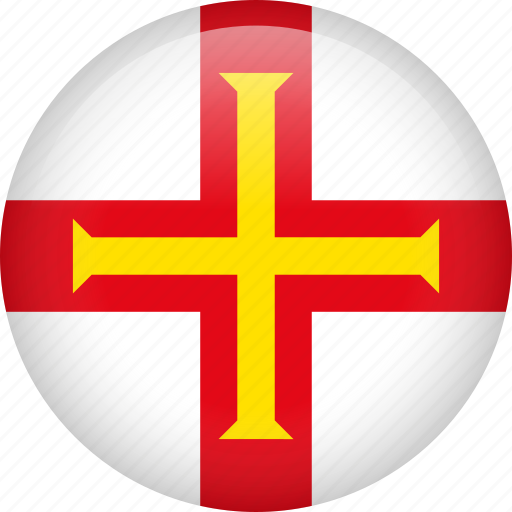 circle, country, flag, guernsey, nation icon