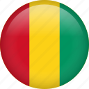 circle, country, flag, guinea, nation icon