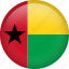 circle, country, flag, guinea-bissau, nation, national icon