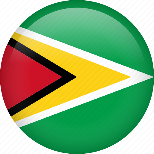 circle, country, flag, guyana, nation icon
