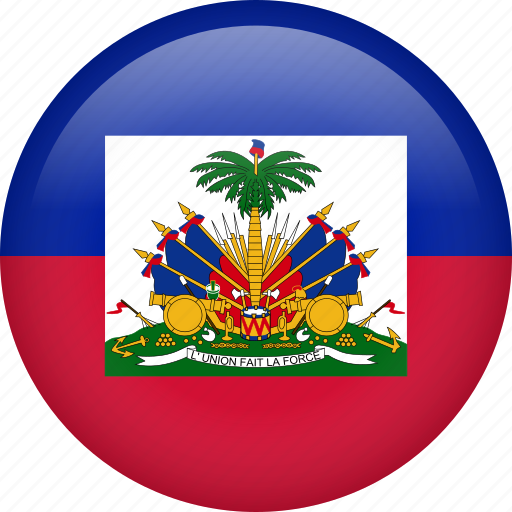 circle, country, flag, haiti, nation icon