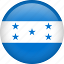 circle, country, flag, honduras, nation icon