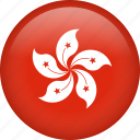 circle, country, flag, hong kong, national icon