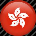 circle, country, flag, hong kong, national