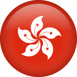 circle, country, flag, hong kong, national icon