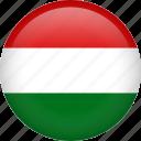 hungary, circle, country, flag, national