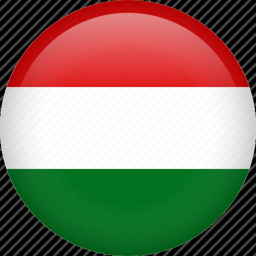 circle, country, flag, hungary, national icon