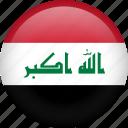 iraq, circle, country, flag, national
