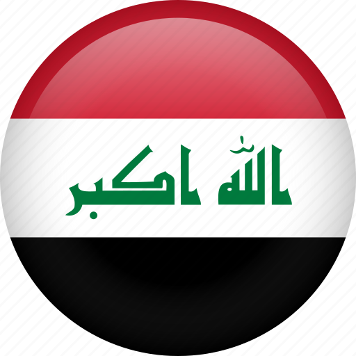 circle, country, flag, iraq, national icon
