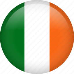 circle, country, flag, ireland, national icon