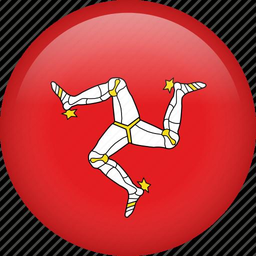 circle, country, flag, isleofman, national icon