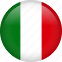 circle, country, flag, italy, national icon