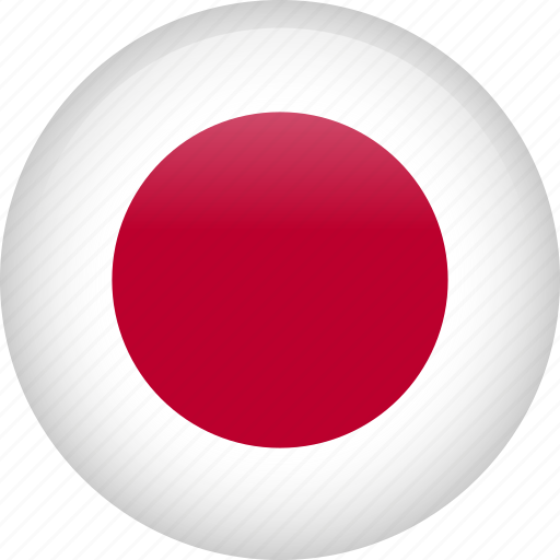 asian, circle, country, flag, japan, japanese icon