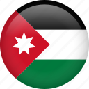 circle, country, flag, jordan, national icon