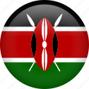 circle, country, flag, kenya, national icon