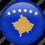 circle, country, flag, kosovo, national icon