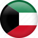 kuwait, circle, country, flag, national icon