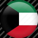 kuwait, circle, country, flag, national