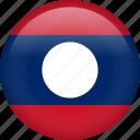 laos, circle, country, flag, national