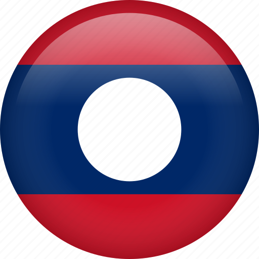 circle, country, flag, laos, national icon